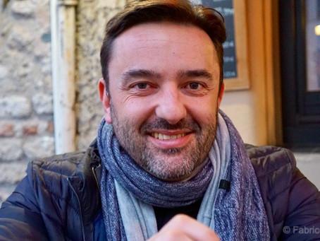 Olivier Roubin et son panier bleu