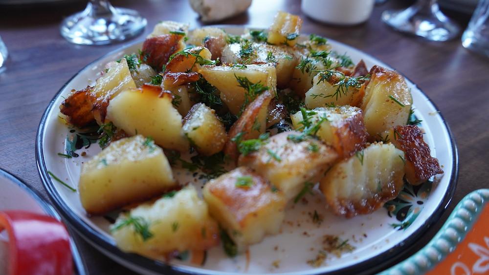 Pommes de terre sautées. © Fabrice Roy