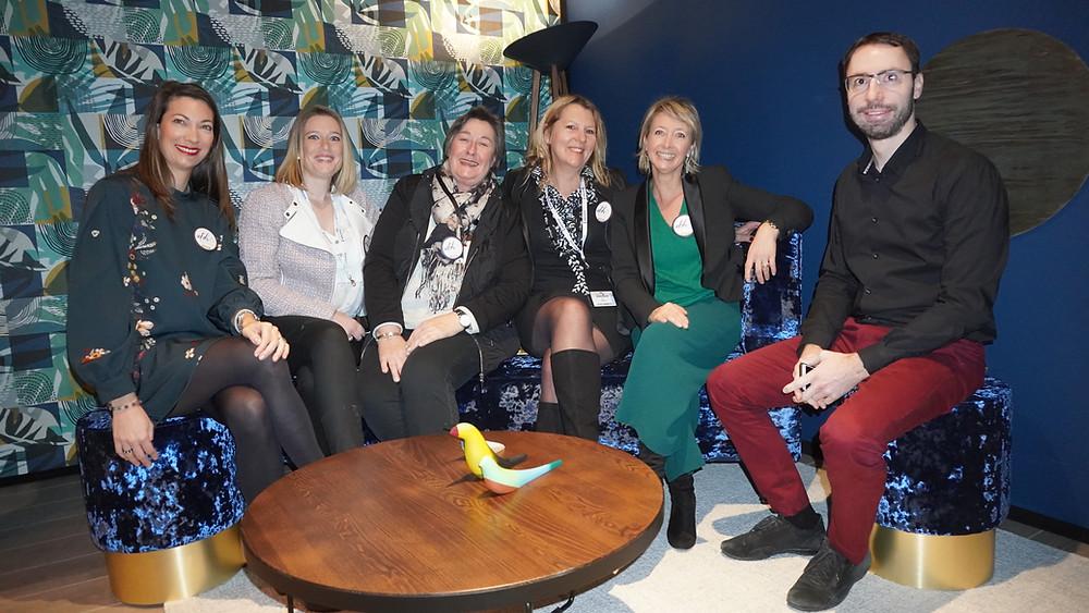 De gauche à droite, Christelle Negro, Chlotilde Herman, Sylvie Aldebert, Isabelle Dehay, Isabelle Pradier, Sébastien Montard. © Fabrice Roy