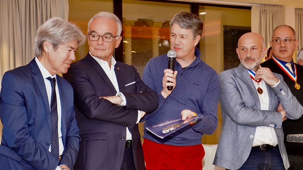 De gauche à droite, Jean-Pierre Galvez, Richard Galy, Denis Férault, Philippe Joannes, Franck Attoyan. © Fabrice Roy