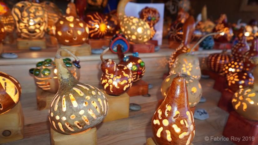 Les lampes en cougourdons de Morgan Barbier