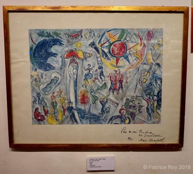 Marc Chagall. Sérigraphie signée dédicace à Mimi