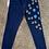 Thumbnail: Conjunto de chaqueta y pantalón de mezclilla pintados a mano #2