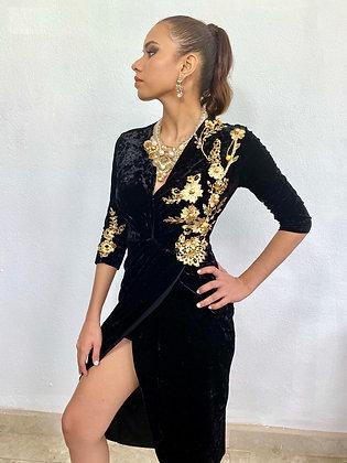 Vestido cóctel terciopelo #1