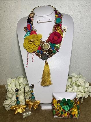 Colección zoé collar, aretes y pulsera #21