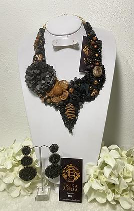 Colección Ignacio Vargas collar y aretes #25