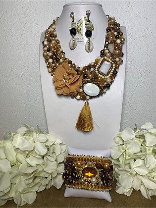 Colección zoé collar, aretes y pulsera #49