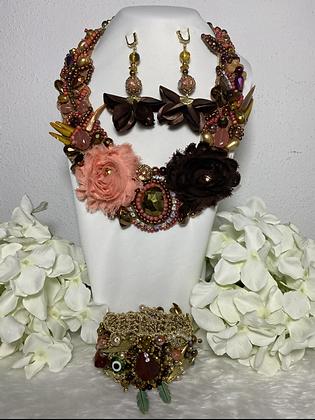 Coordinado collar, aretes y pulsera J#5