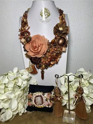Colección Zoé collar, aretes y pulsera #22