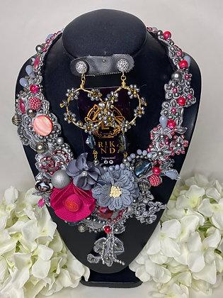 Collar sin herraje con aretes J#2