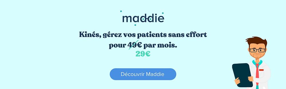 Maddie la solution des kines: impliquez vos patients, gagnez du temps site internet cabinet agenda partagé entre collègues prise de RDV en ligne