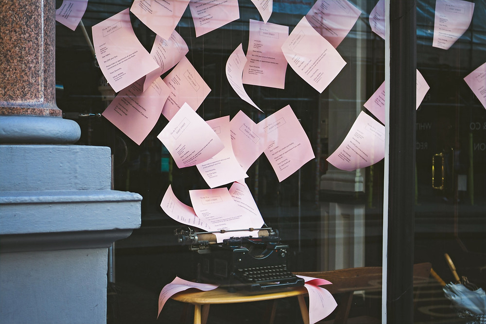 papier administratif machine à écrire