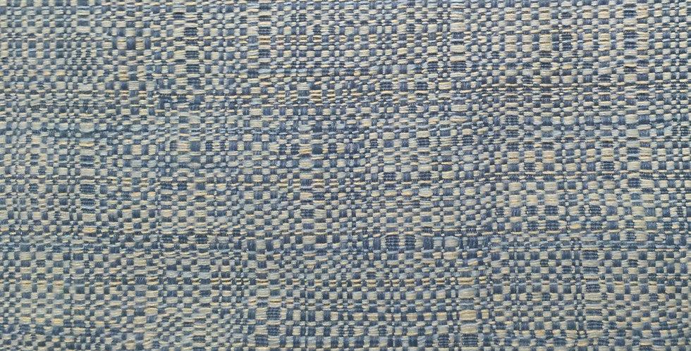 Blue Woven Upholstery
