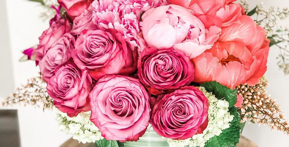 Charming Peonies & Roses