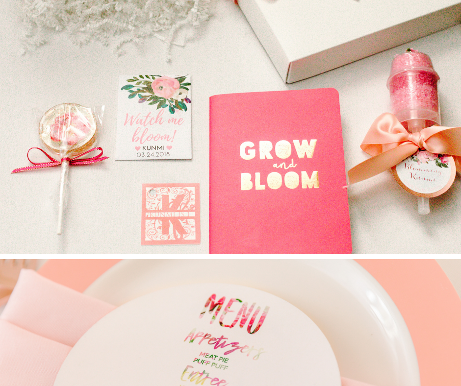 Child's first birthday 'bloom' party favors