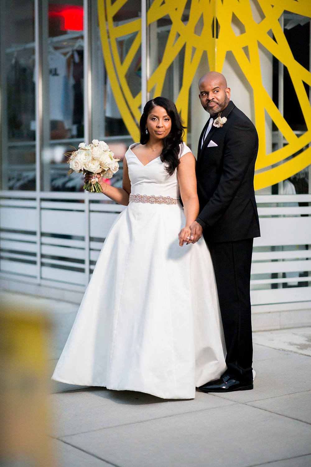 Bride and groom, Westin Georgetown, Washington DC Wedding