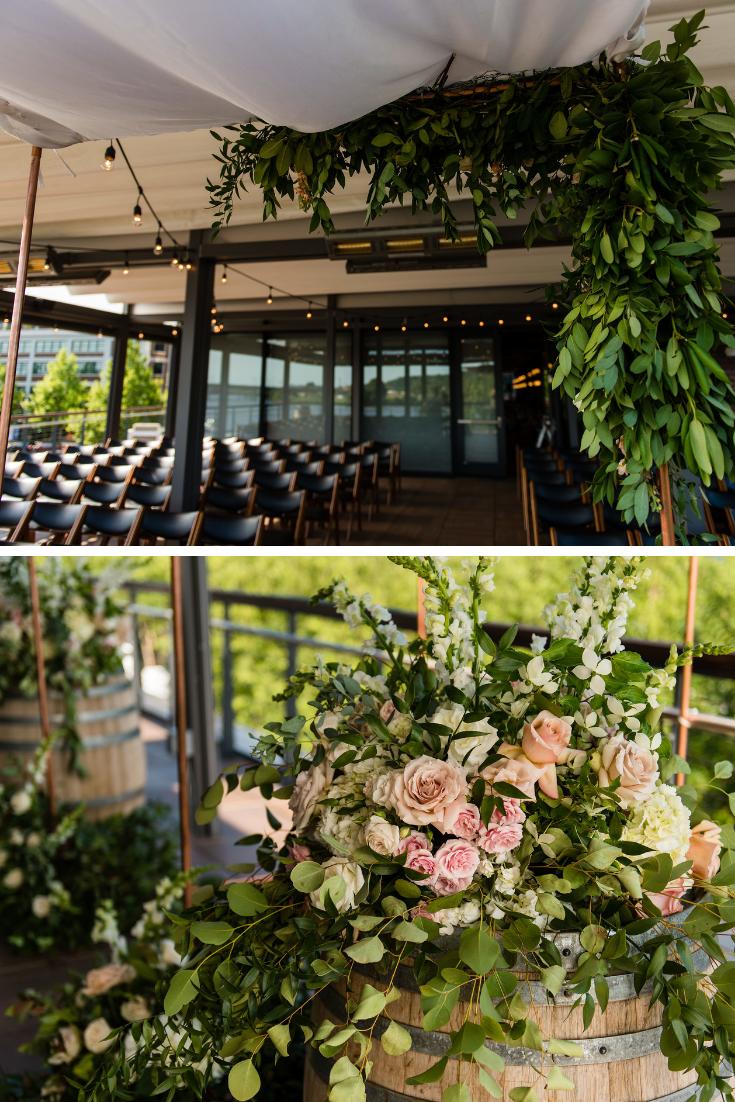 Washington DC District Winery Wedding Maryland Florist Designs by Oochay