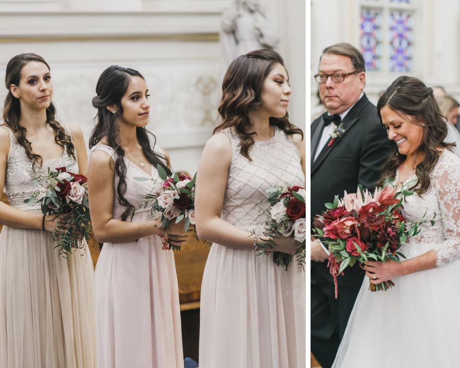 Wedding ceremony at St. Aloysius Gonzaga Church in Washington D.C.