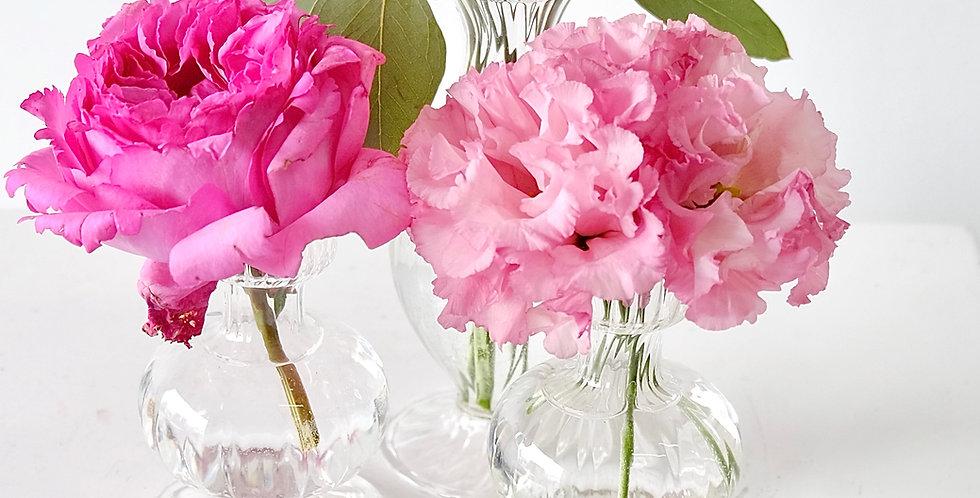 Fragrant Garden Lisianthus & Garden Rose Bud Vases