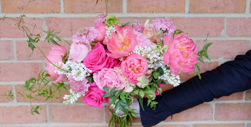Coral Charmed Bridal Bouquet