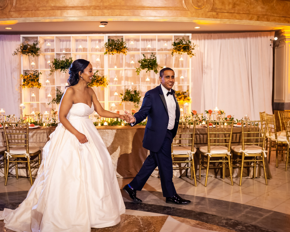 The couple dances at the wedding venue in Washington DC