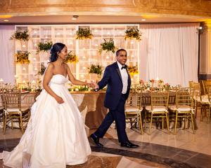 The couple dances at the wedding venue in Washington DC