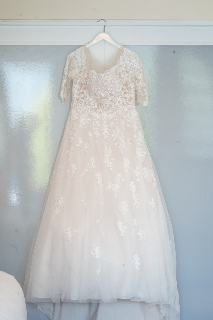 Bride's gown at District Winery Washington, DC Wedding