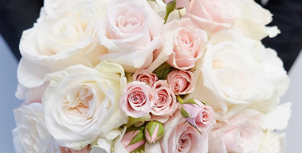 Blush & Ivory Bridesmaid Bouquet