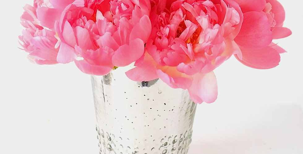 Coral Charm Cocktail Sized Centerpiece