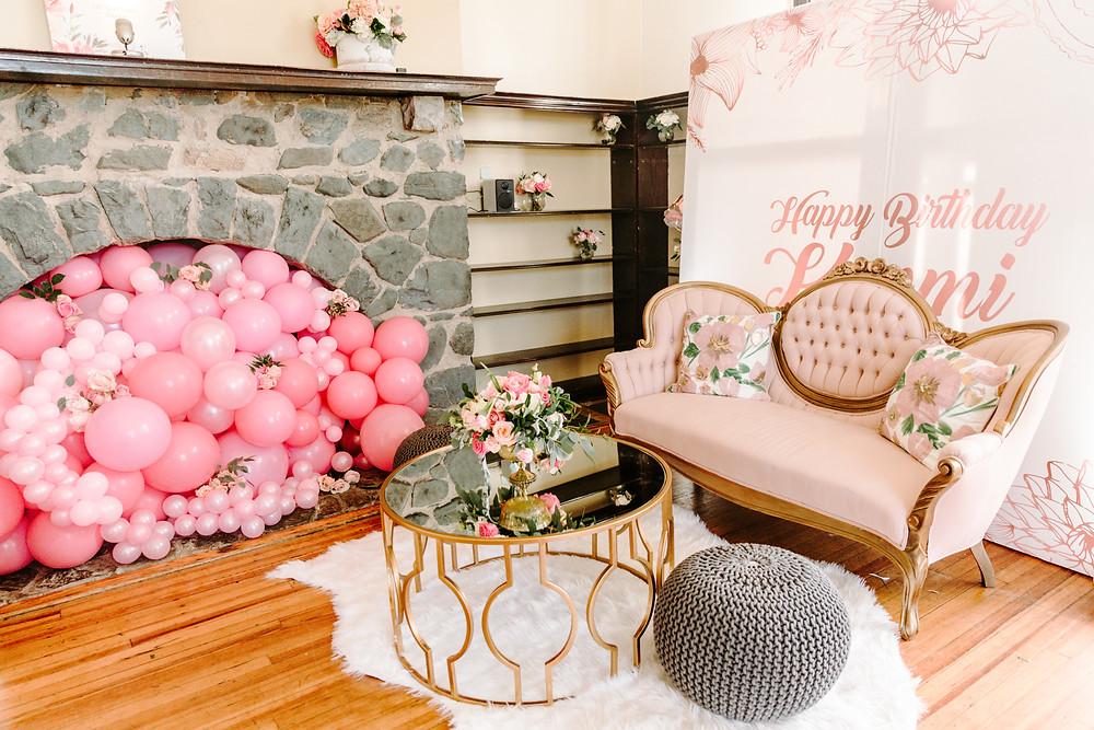 Pink Victorian Sofa