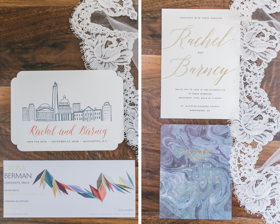 Invitations for Longview Gallery, DC Wedding