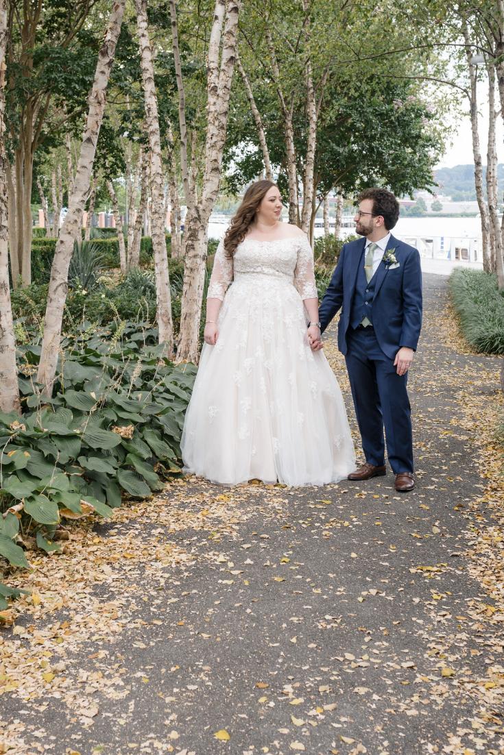 District Winery Wedding, Washington, DC. Bride and groom