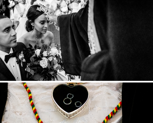 Wedding rings and blessings for Orthodox wedding