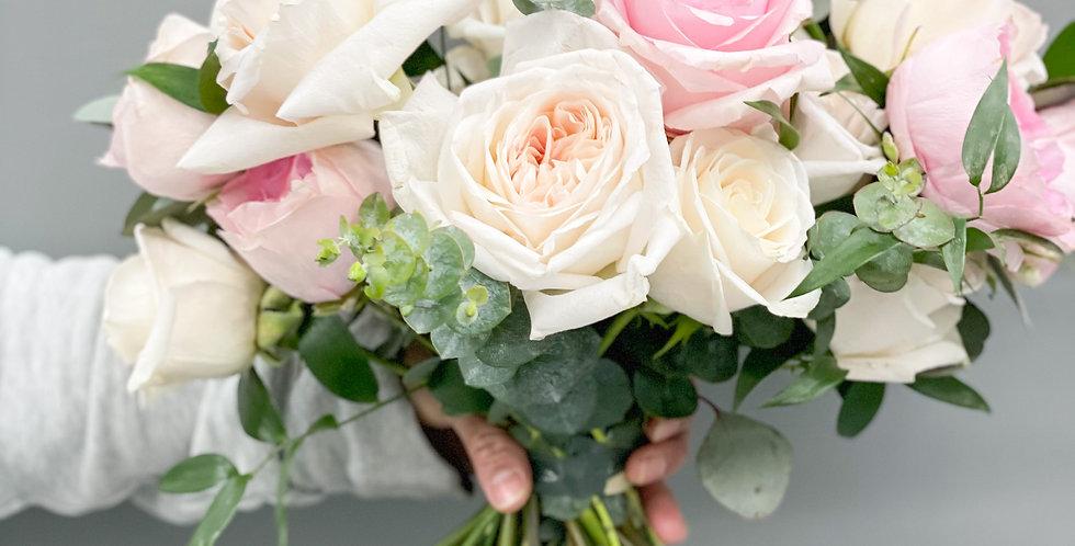 Blush & White Garden Bouquet