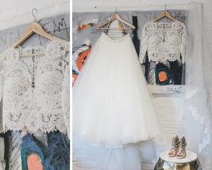 Wedding dress for art teacher