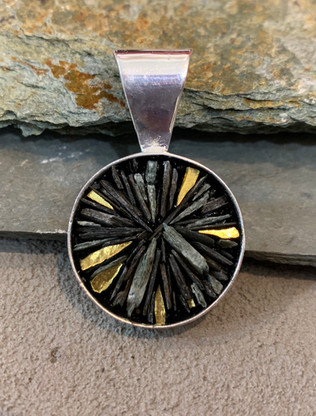 Slate and Gold Star Pendant