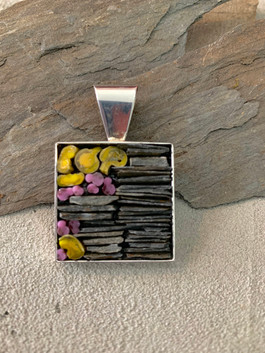 Slate and Filati Pendant