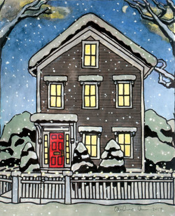 Snowy House (snowing)