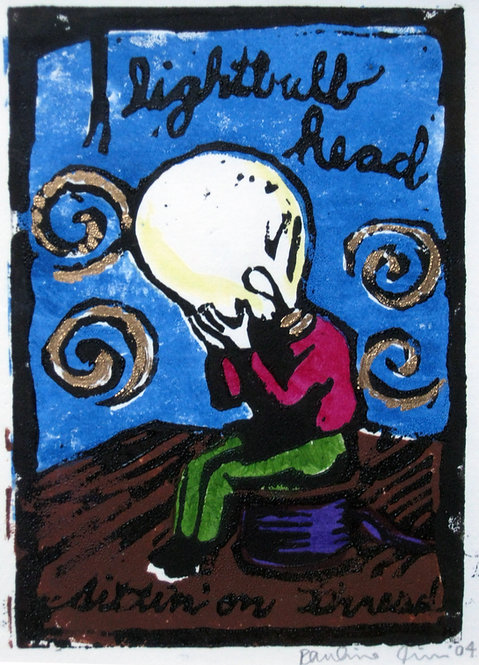 Lightbulb Head Sittin' on Thread