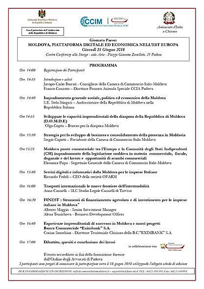 Programma Giornata Paese Padova 21.06.20