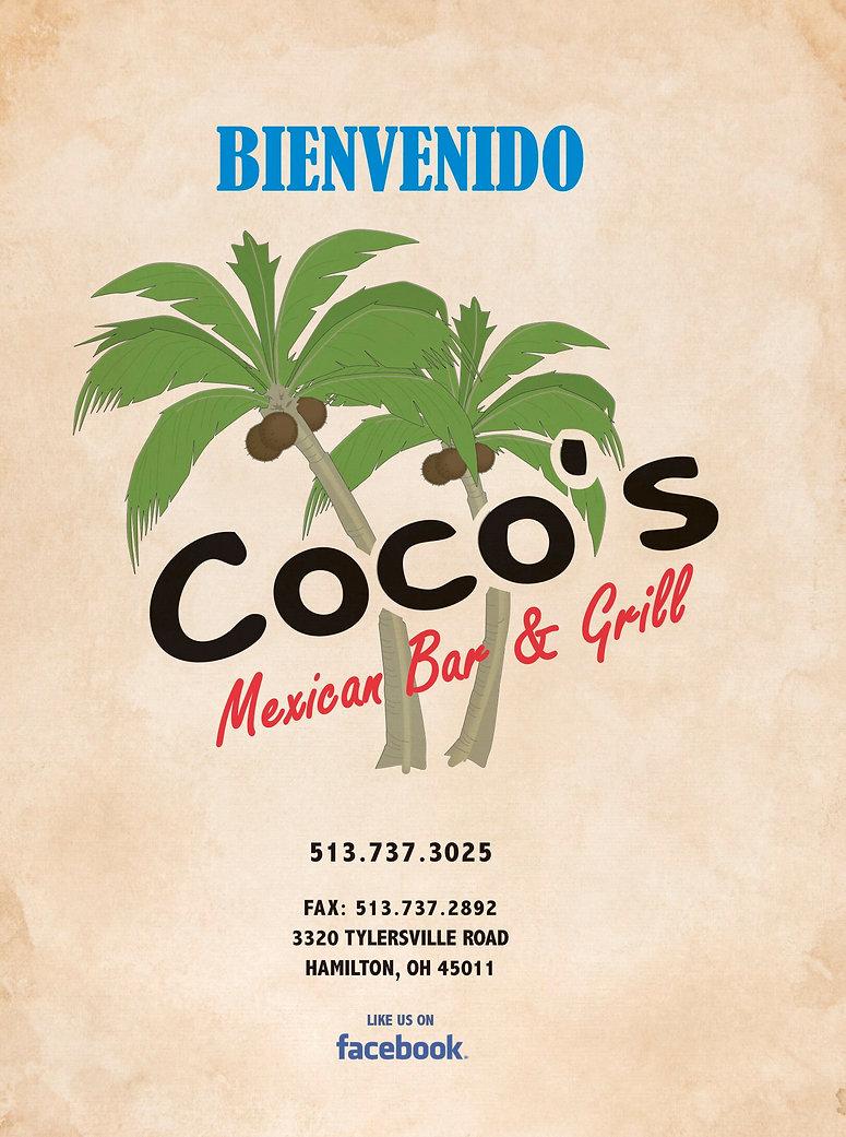 Coco's Menu