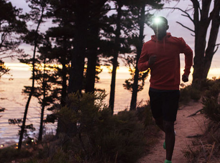 Guide to -           Head torch running.