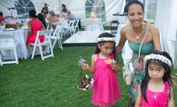 Happy kids at Maui, Hawaii wedding