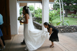 Bridal gown for a Maui wedding