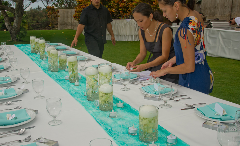 Maui wedding planner centerpeices
