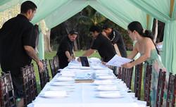 Grace Weddings staff setting-up