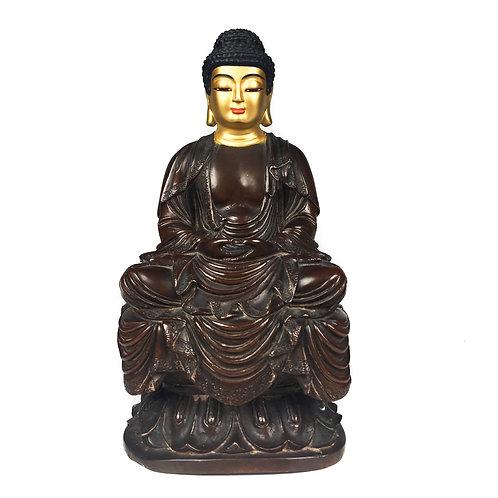 """阿彌陀佛 銅 顯教造型 手工 尼泊爾 Amitava Buddha Statue Handmade Nepal 8"""" (19 cm)"""