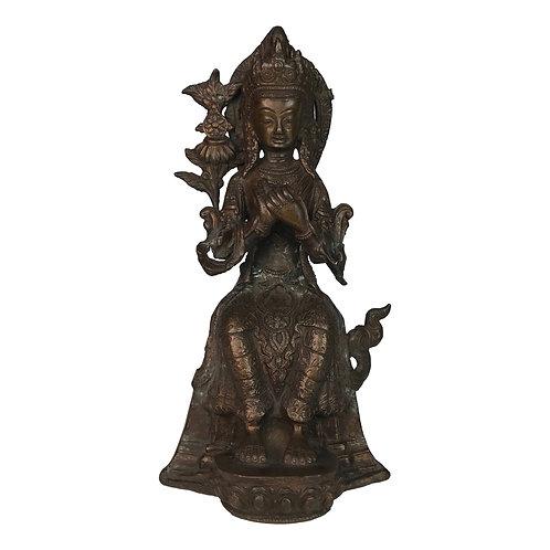 彌勒佛/ 未來佛 銅 手工 尼泊爾 佛像 Maitreya Buddha Copper Handmade Nepal 12x24cm / 1.9kgs