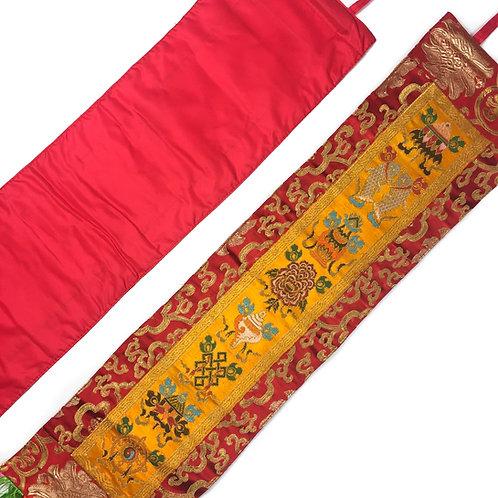 八吉祥 直布/幡 一對 Astamangala cloth / pair 18 x 73 cm