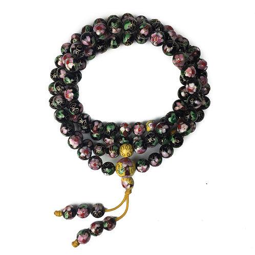 9mm 景泰藍 (黑) 108 唸珠 prayer beads